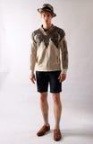 纽约, NY - 9月06日:模型摆在塞尔焦达维拉时尚介绍 免版税库存图片