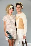 纽约, NY - 9月06日:模型摆在塞尔焦达维拉时尚介绍 免版税图库摄影