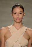 纽约, NY - 9月06日:模型走跑道在儿子Jung苍白春天2015时装表演 免版税图库摄影