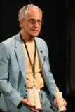 纽约, NY - 9月06日:特拉设计的菲利普Pelusi在Venexiana展示产品后台 库存照片