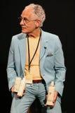 纽约, NY - 9月06日:特拉设计的菲利普Pelusi在Venexiana展示产品后台 免版税库存照片