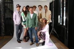 纽约, NY - 9月06日:设计师塞尔焦塞尔焦达维拉时尚介绍的达维拉(c) 免版税图库摄影