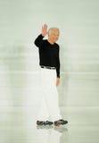 纽约, NY - 9月12日:设计师拉尔夫・洛朗步行拉尔夫・洛朗时装表演的跑道 库存照片