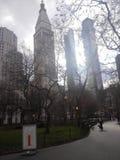 纽约,chrisler,曼哈顿,花园大概 免版税库存图片