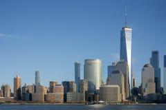 纽约,NY/团结状态1月 11日2019年-风景被射击香港世界贸易中心 库存图片