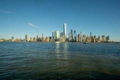 纽约,NY/团结状态1月 11,2019广角图曼哈顿下城 库存图片