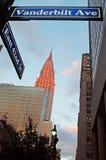 纽约:日落的帝国大厦2014年9月14日 库存照片