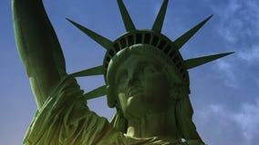 纽约:自由女神像,与云彩和作用,超hd 4k 影视素材