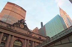 纽约:MetLife大厦、盛大中央终端和帝国大厦2014年9月14日 库存照片