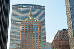 纽约:MetLife大厦和地平线2014年9月14日 免版税库存照片
