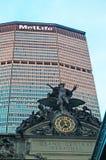 纽约:MetLife大厦和盛大中央终端2014年9月14日 免版税库存图片