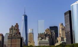 纽约从哈德森的地平线视图 免版税库存照片