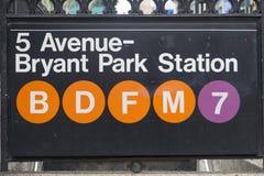 纽约-地铁 免版税库存照片