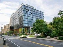 纽约- 2017年9月:在弗曼St,布鲁克林Hig的现代大厦 免版税库存图片