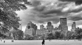 纽约- 2015年10月25日:中央公园在秋天与 免版税库存照片