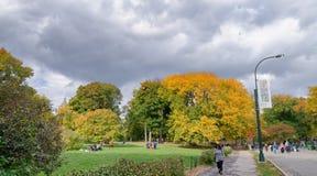 纽约- 2015年10月25日:中央公园在秋天与 免版税库存图片
