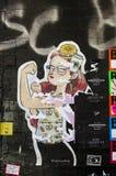 纽约- 2016年9月18日:在街道上的街道画壁画  库存图片