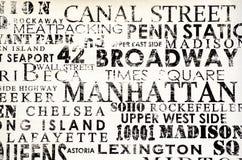 纽约- 2016年9月18日:在Manhatta街道上的壁画  免版税图库摄影