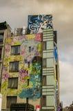纽约- 2016年9月18日:在Manhatta街道上的壁画  库存照片