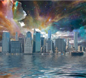 纽约幻想 库存照片