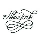 纽约 手书面城市名字 免版税库存照片
