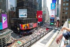纽约4时代广场从上面 免版税图库摄影