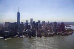 纽约-曼哈顿地平线从上面 免版税库存照片