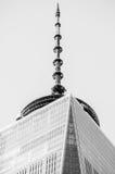 纽约-12月26日:在世界贸易中心附近的风景在纽约C 免版税库存照片