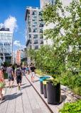 纽约- 2013年6月15日:在NYC的生产线上限公园 高L 库存照片