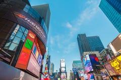 纽约- 2013年12月22日:时代广场 库存照片