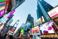 纽约- 2013年12月22日:时代广场 库存图片
