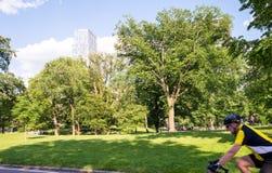 纽约- 2013年6月15日:游人在su享用中央公园 免版税图库摄影