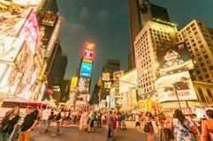 纽约- 2010年9月5日:9月5日的时代广场在新 图库摄影