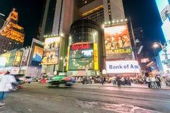 纽约- 2010年9月5日:9月5日的时代广场在新 免版税图库摄影