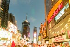 纽约- 2010年9月5日:9月5日的时代广场在新 免版税库存照片