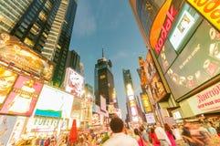 纽约- 2010年9月5日:9月5日的时代广场在新 免版税库存图片
