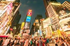 纽约- 2010年9月5日:9月5日的时代广场在新 库存照片