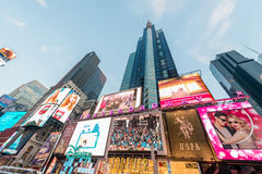 纽约- 2013年12月22日:12月22日的时代广场在美国 免版税图库摄影