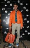 纽约- 9月09 :名人美发师/电视主人罗伯特Verdi在Cipriani餐馆摆在后台 免版税库存照片