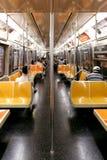 纽约- 9月01 :2013年9月01日的地铁无盖货车 免版税图库摄影