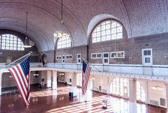 纽约- 10月21 :移民博物馆内部看法  免版税图库摄影