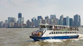 从纽约的轮渡乘驾向新泽西 库存照片