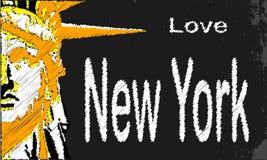 纽约黑板 免版税图库摄影