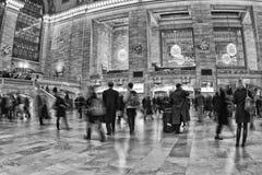纽约-美国-充分12月11日2011盛大中央驻地人 免版税库存照片
