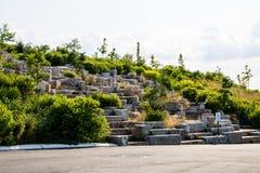 纽约/美国- 2018年7月14日:巨型花岗岩争夺 免版税图库摄影