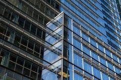 纽约/美国- 2018年7月13日:Ne的大厦反射 免版税库存图片