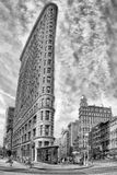 纽约-美国- 2015年6月11日在黑白的flatiron大厦 免版税库存照片