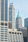 纽约-美国- 2015年6月11日-从直升机场的现代大厦 免版税库存图片