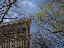 纽约-美国-熨斗大厦在纽约 免版税图库摄影