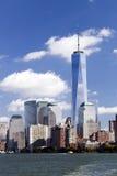 纽约-自由塔在更低的曼哈顿 库存图片